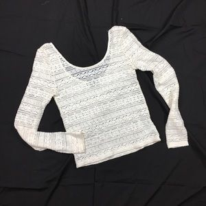 American eagle women's lace top ivory size medium